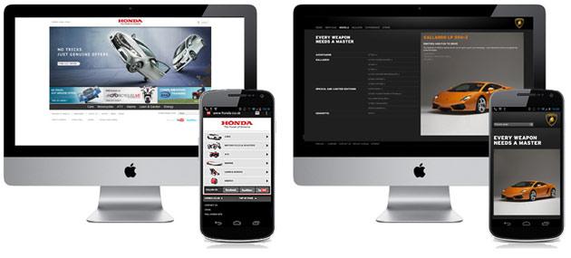 Landing page hiển thị trên nhiều thiết bị