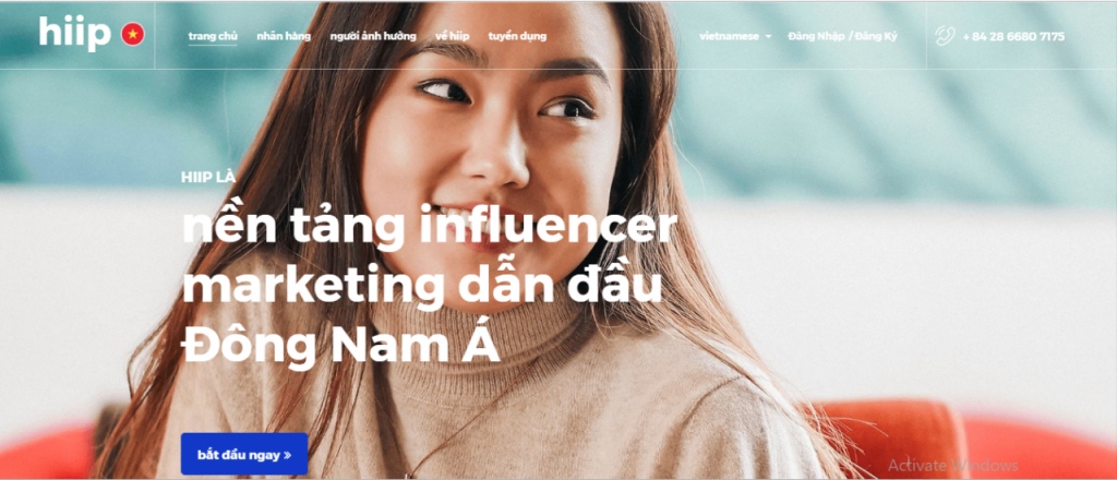 Influencer marketing platform công ty hiip