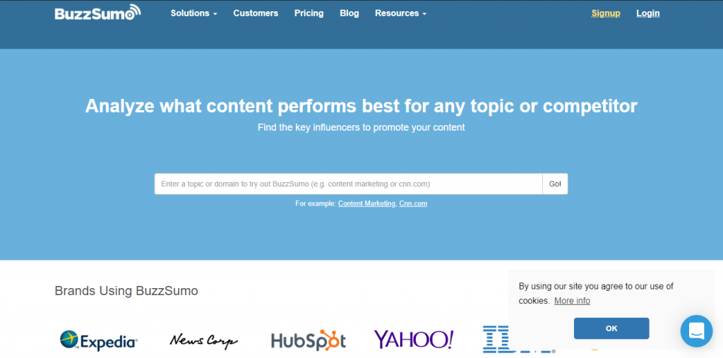 Tool BUZZSUMO tạo content marketing