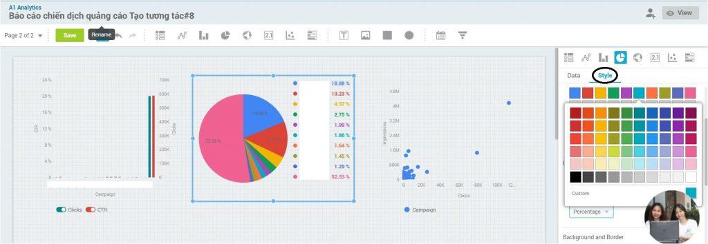 Hướng dẫn sử dụng màu trong bảng dữ liệu A1 Analytics