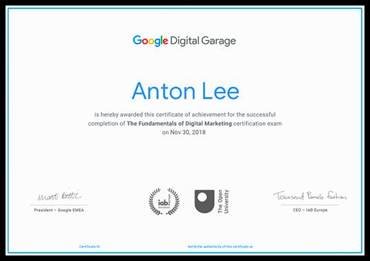 học digital marketing qua Khóa học google digital Garage có chứng chỉ khóa học