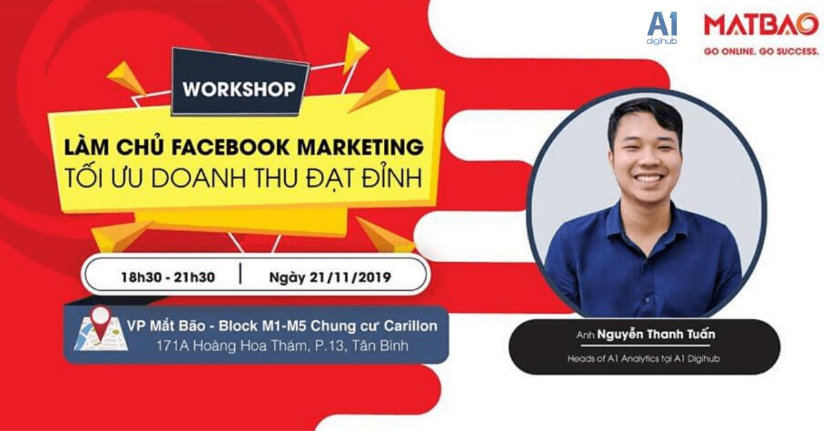Workshop Làm chủ Facebook Marketing - Tối ưu doanh thu đạt đỉnh