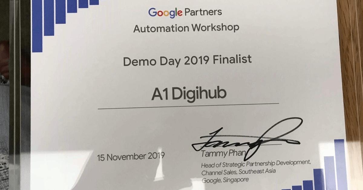 A1 Digihub Đạt Giải Nhất Tại Google