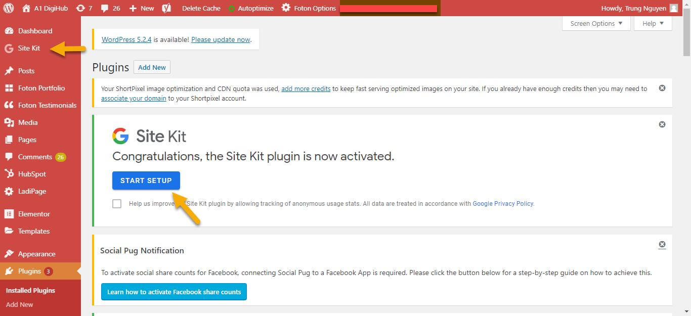 Plugin Google Site Kit
