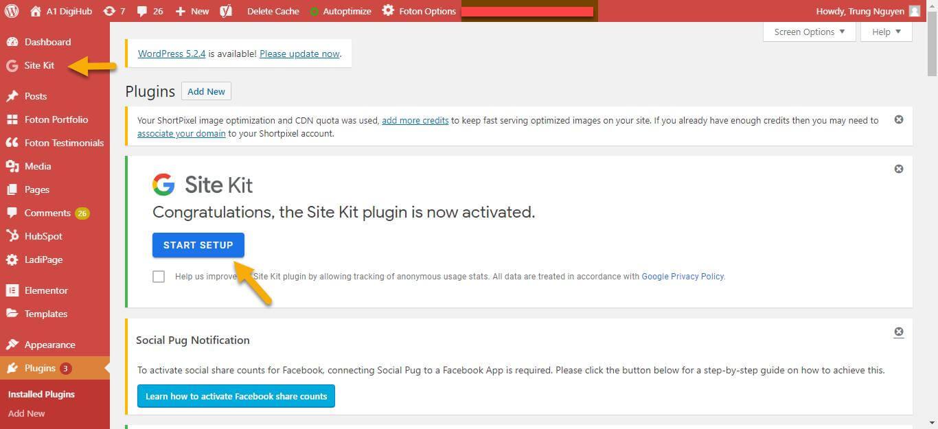 Plugin Google Site Kit