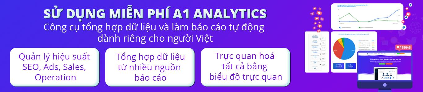 sử dụng A1 Analytics