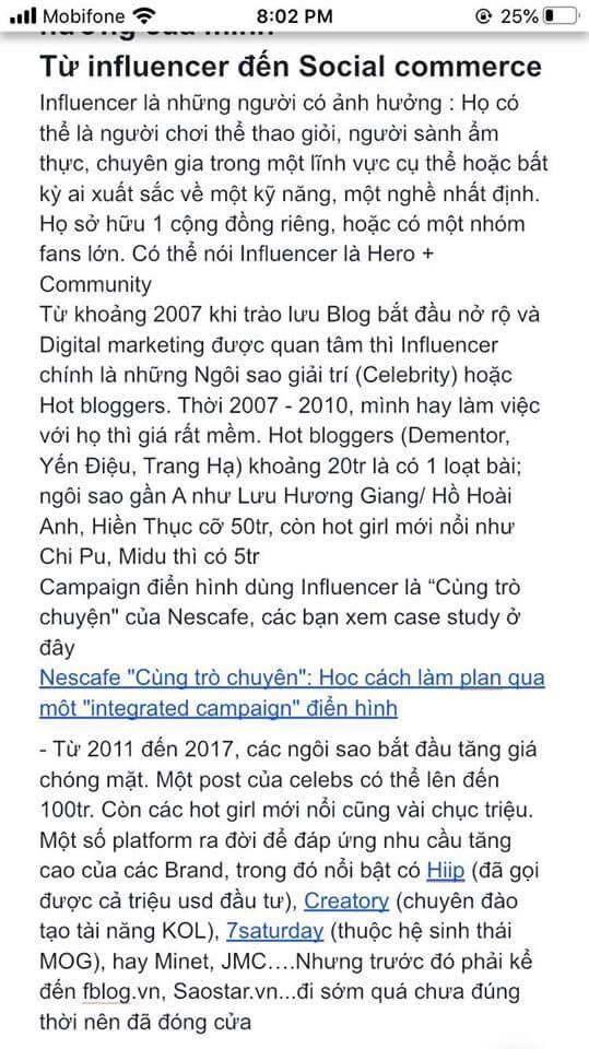Từ Influencer đến Social Commerce