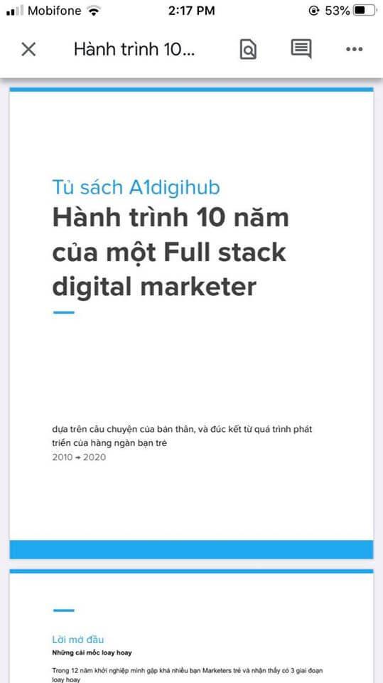 Hành trinh 10 năm của 1 full stack digital marketer