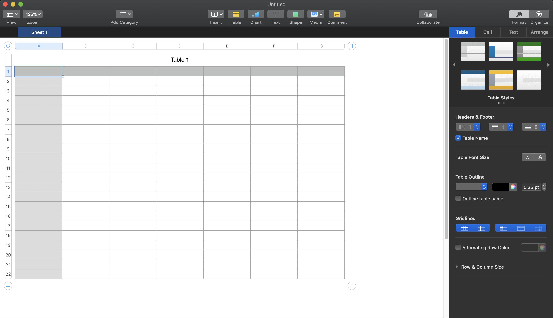 Số là một thay thế Excel miễn phí khác cho những người sử dụng máy Mac