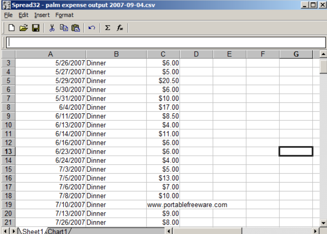 SPREAD32 là một thay thế Excel