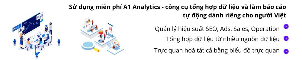 sử dụng A1 Analytics miễn phí
