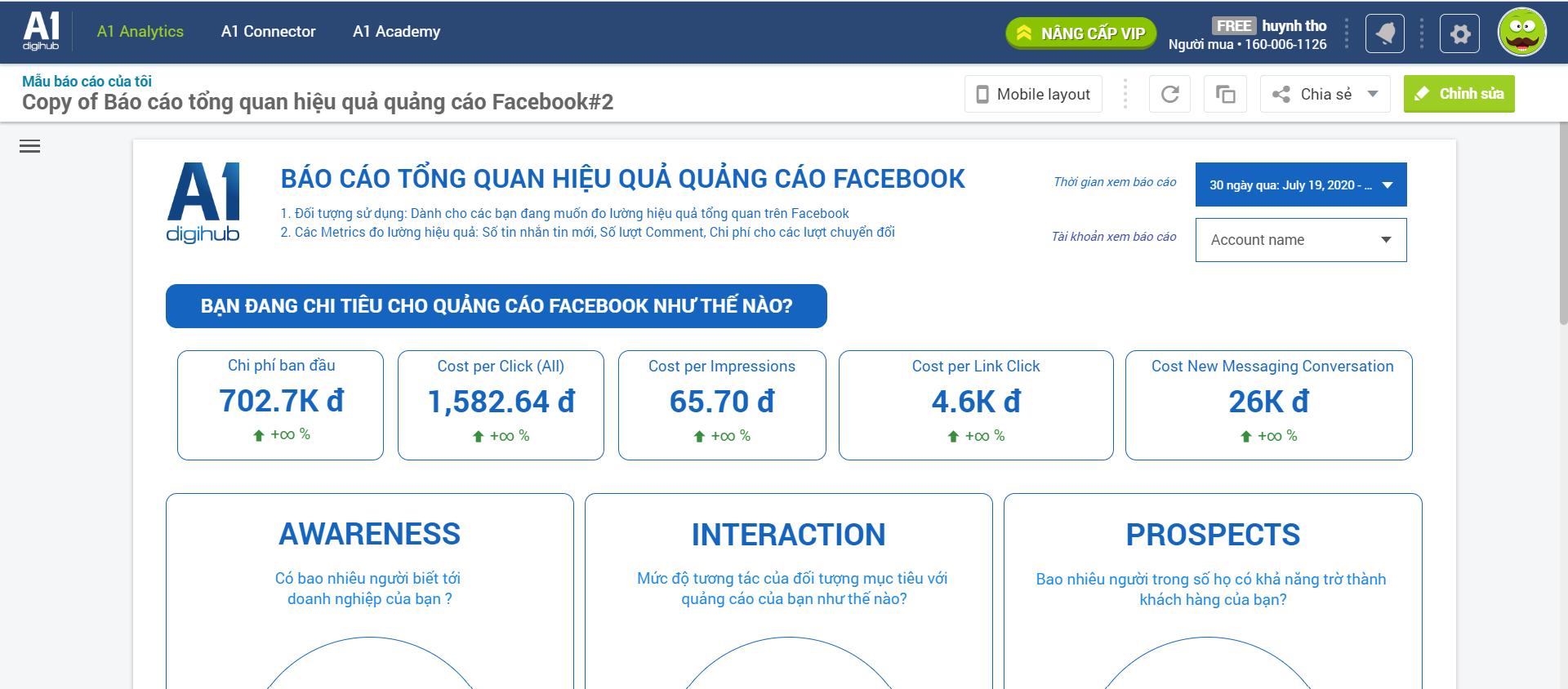Báo cáo facebook