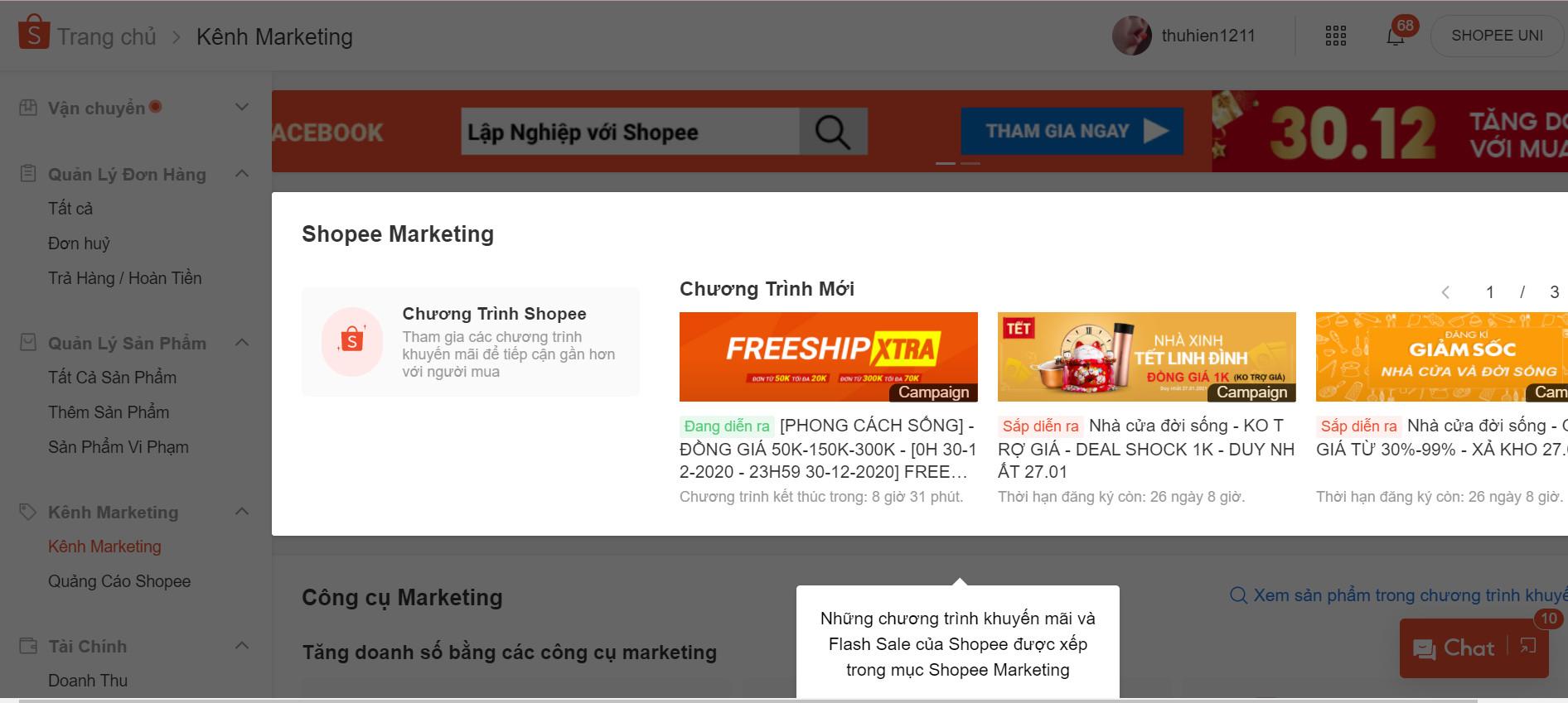 tăng doanh số bán hàng bằng shopee
