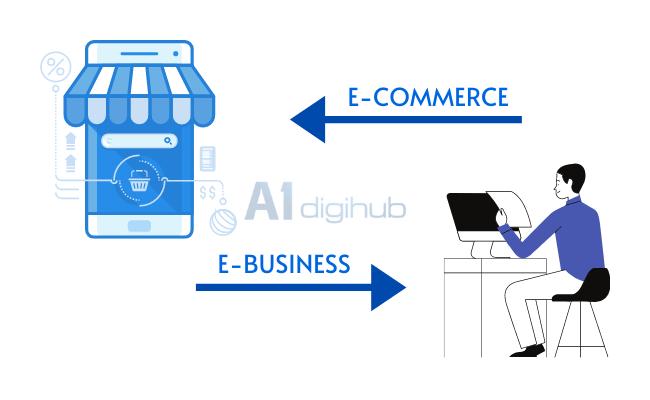 so sánh e-commerce với e-business